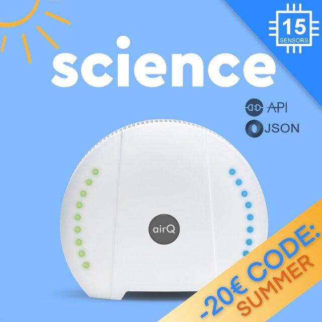 air-Q Science (14 Sensoren + Science Option + optional. Zusatzsensor)